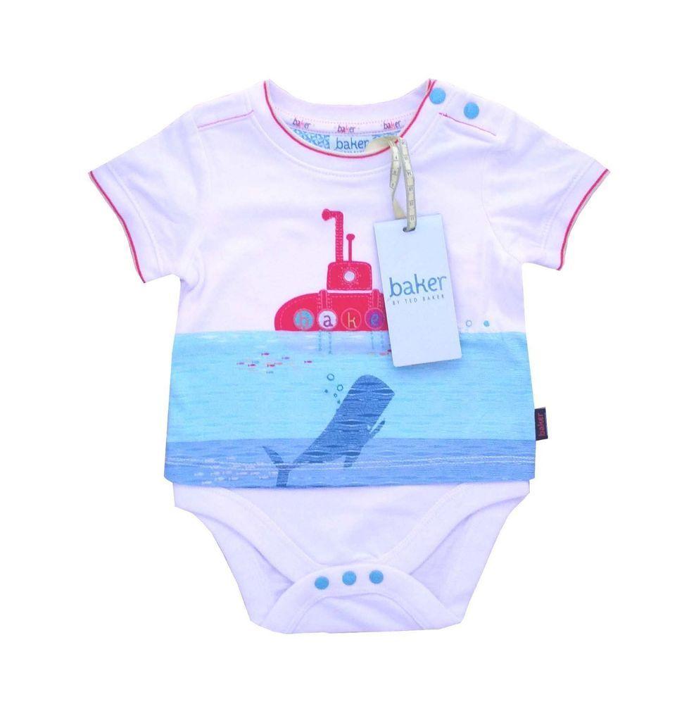 8bdee9c44ddad6 Ted Baker Baby Boys Romper Bosysuit Vest Submarine Designer Newborn Gift