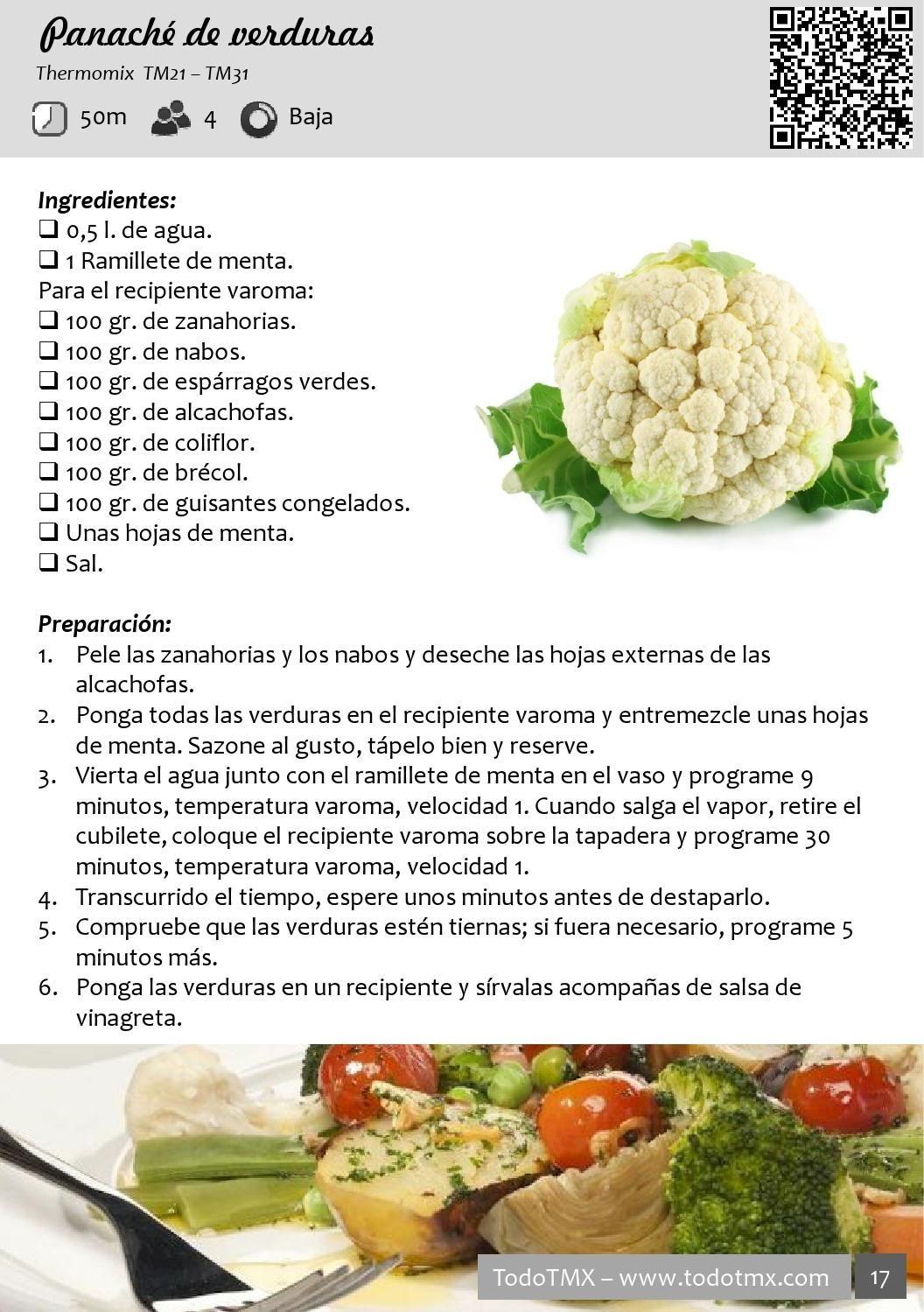 Todo Thermomix Mayo 2014 Comidas Con Verduras Verduras Comida