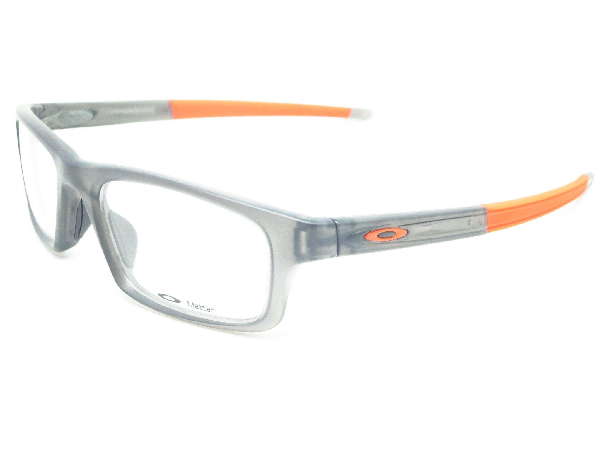 Oakley Crosslink Pitch OX8037-0652 Satin Grey Smoke Eyeglasses   Lentes