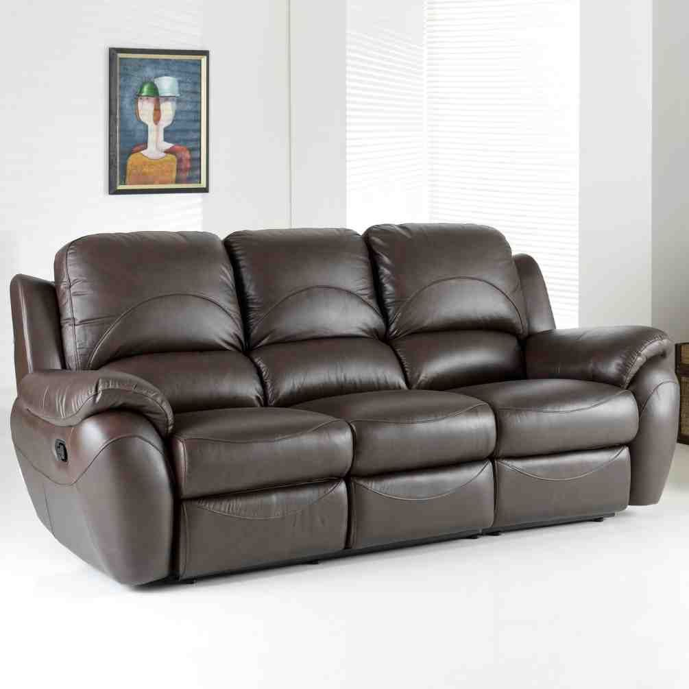 3 Seater Leather Sofa With Images
