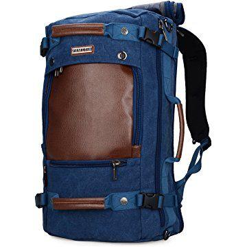 d113a8389 WITZMAN Men Travel Backpack Canvas Rucksack Vintage Duffel Bag ...