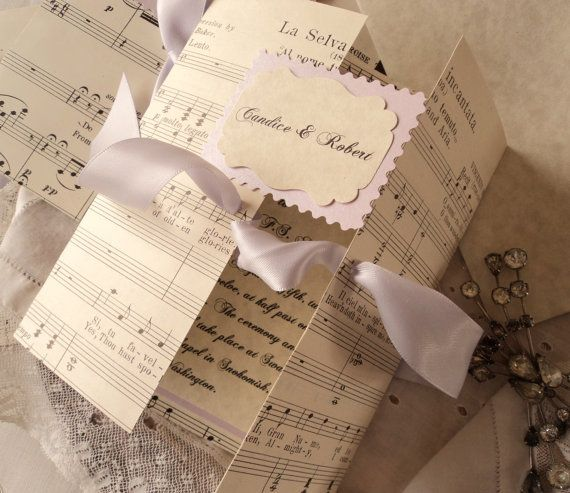 Reserved For Jenred1000 Wedding Invitations With Antique Sheet