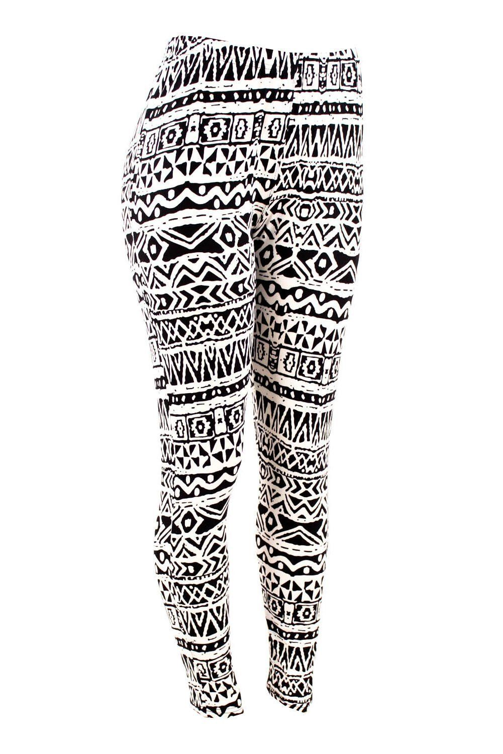 35d549e9fbc8b8 ShoSho Women's Plus Size Tribal Aztec Print Leggings ($11.95) http://www