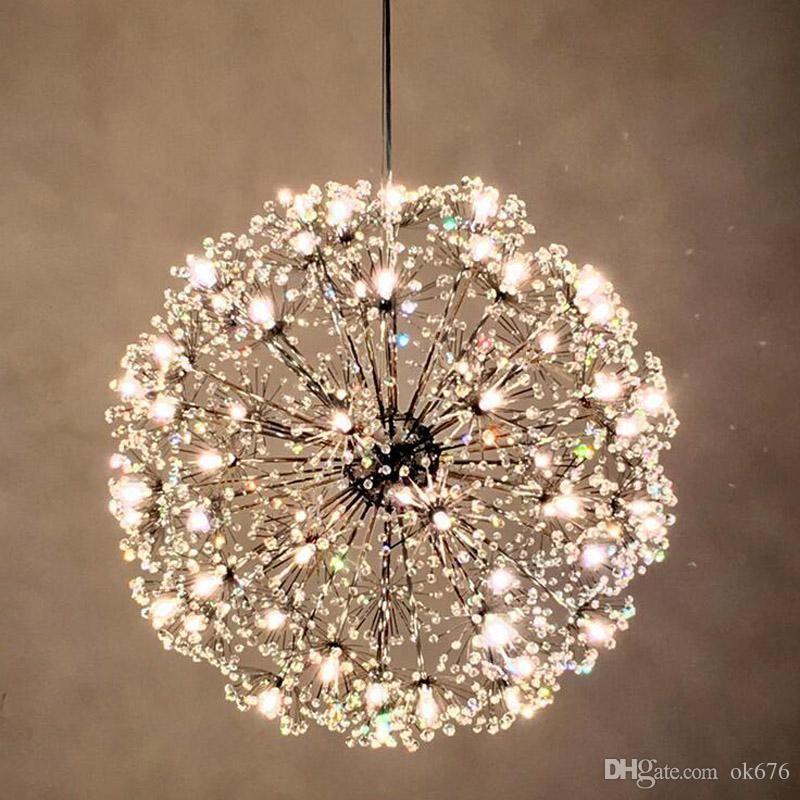 Dandelion Led Chandeliers European Creative K9 Crystal Dandelion