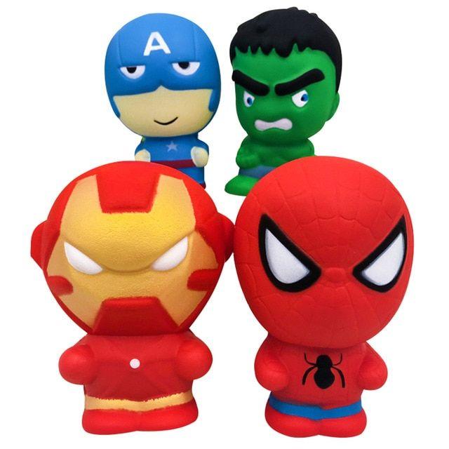 Super Hero Squishy Langsam Rising Iron Man Spiderman Squishies Spielzeug Jumbo Squeeze Stress Relief Spielzeug Für Kind Gags & Schabernack Sammeln & Seltenes