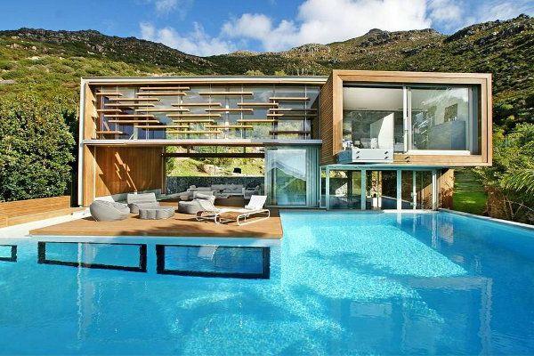 modernes haus mit einem unglaublichen swimmingpool | Häuser ...