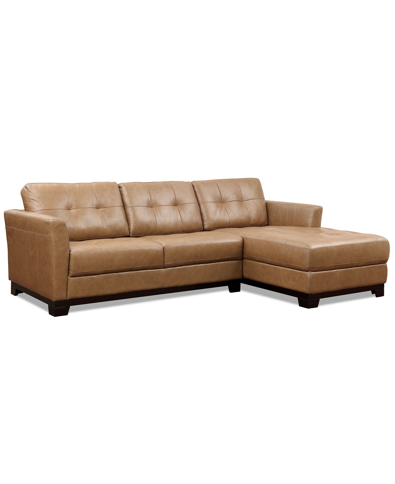 Martino Leather Chaise Sectional Sofa 2 Piece Apartment And Bobkona Barrie Microsuede Loveseat Set Couches Sofas Furniture Macy S