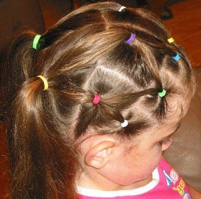 Hair Net Into Curly Ponies Little Girl Hairstyles Girly Hairstyles Hair Styles