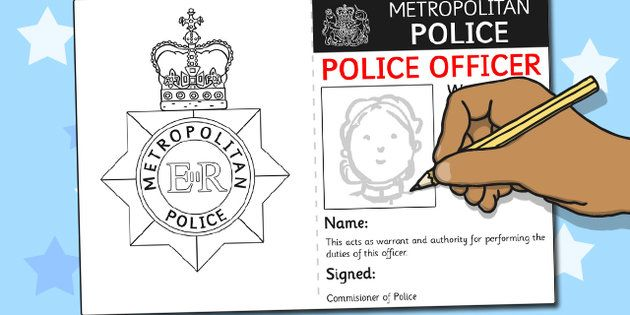 Police Identity Badge Role Play Template | Teaching Ideas and ...