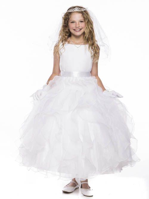 White Stunning  Dress with Satin Sash