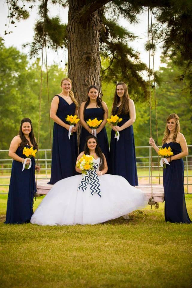 a29bb1d5f Navy   Yellow wedding Barn wedding at The Barn at Twin Oaks Ranch ...
