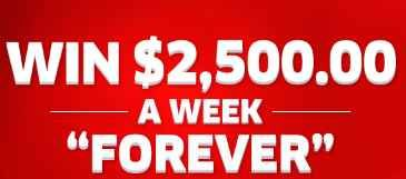 PCH $2,500 A Week Forever Sweepstakes | Activations | Enter