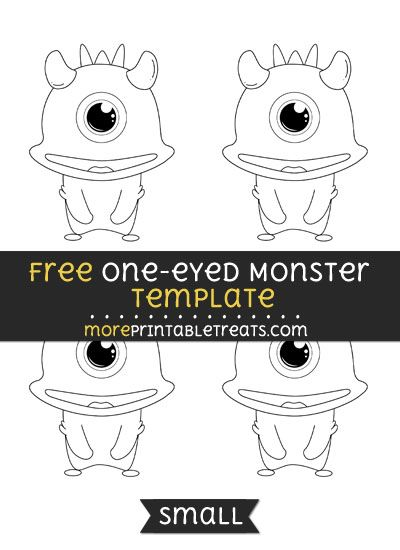 Free One Eyed Monster Template - Small Shapes and Templates - monster template