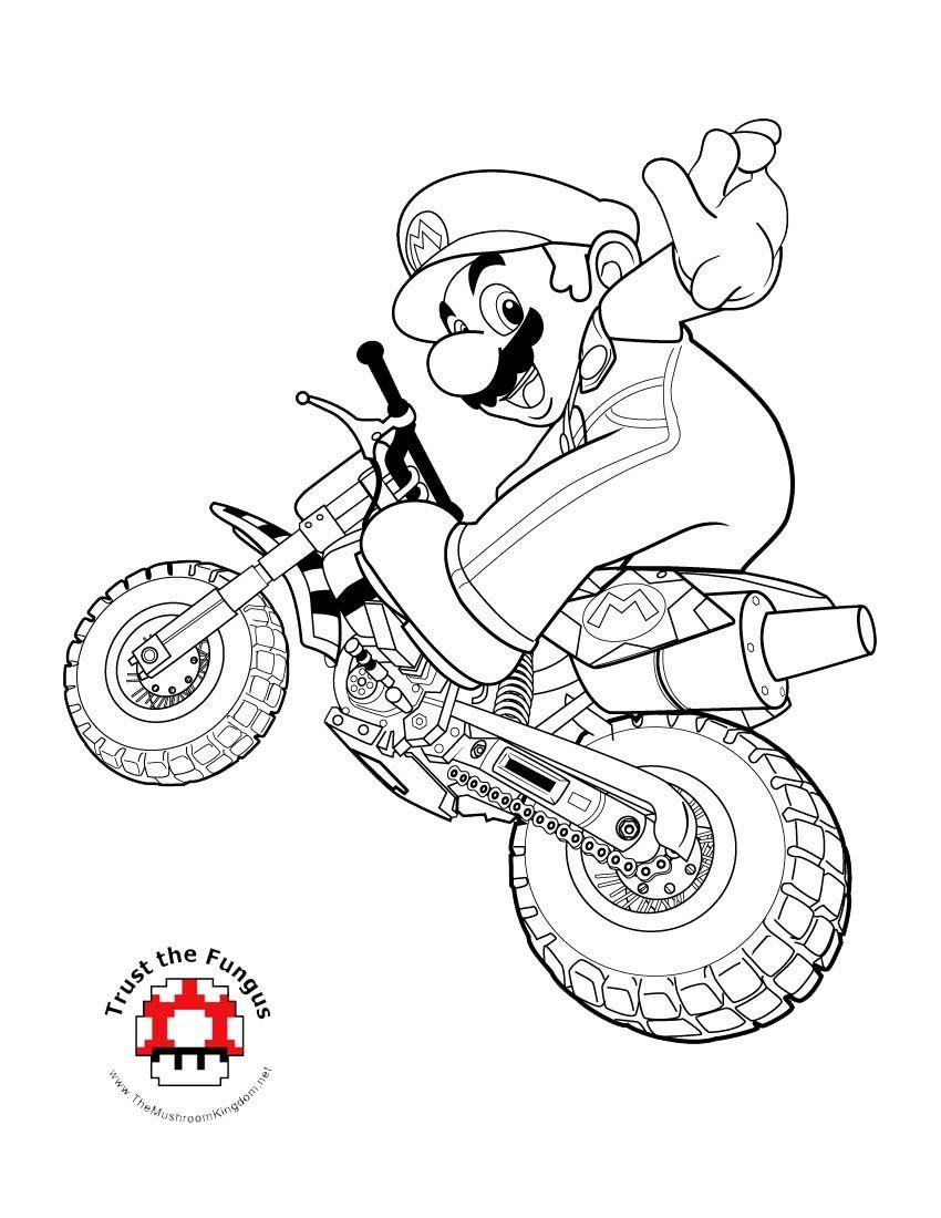 mario kart 8 coloring pages Mario Kart coloring page | Keegan's 5th Birthday | Mario coloring  mario kart 8 coloring pages