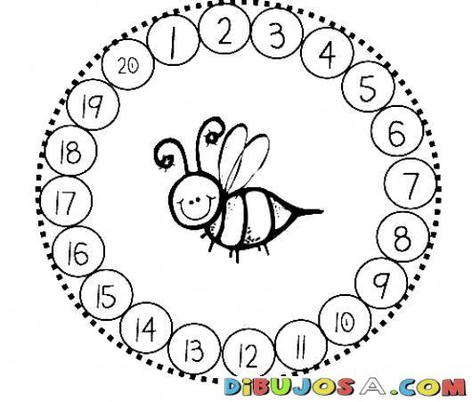 Numeros Del 1 Al 20 Para Colorear Y Aprender Los Numeros