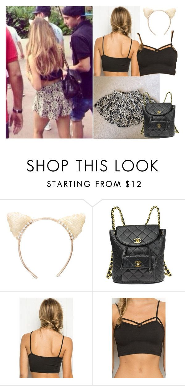 cf737e7d by aglookbook ❤ liked on Polyvore featuring Brandy Melville and Chanel.