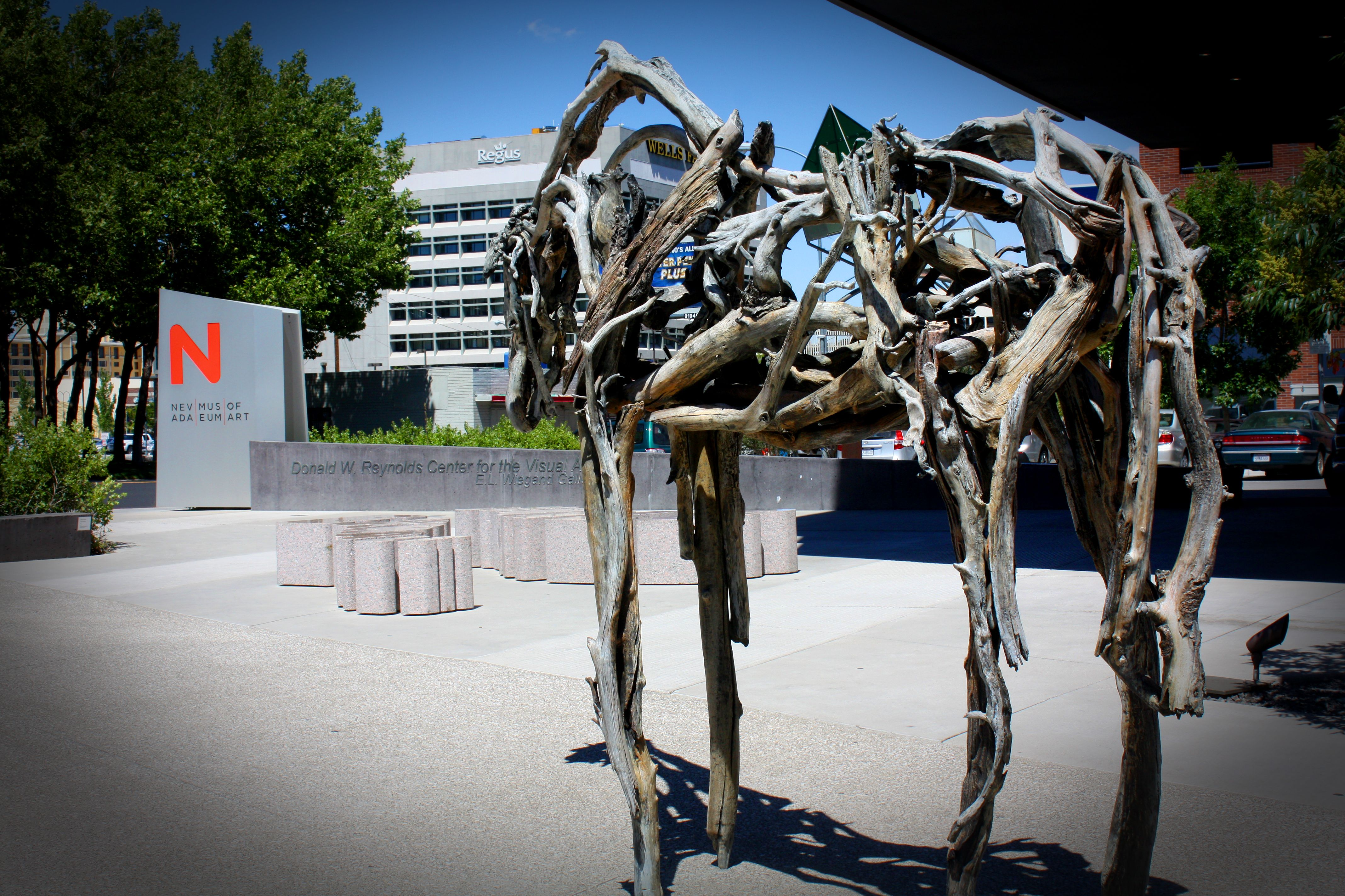 Horse Sculpture Made Of Wood Branches Nevada Museum Of Art Reno Nv Photo Taken By Natalie Lumbo Horse Sculpture Culture Art Art Museum