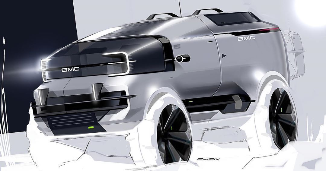 """GM Design on Instagram: """"BTW, we're going to the moon next. Sketch by @macotodesign⠀ ⠀ #GMdesign #car #design #cardesign #cardesignsketch #cardesignworld #SUV…"""""""