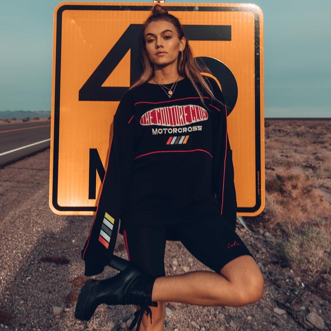 """dfe5ebf2c8 The Couture Club on Instagram: """"Motocross Girl Stay on track this season  with the Oversized Motocross sweater Styled with Couture Cycling shorts  drops ..."""