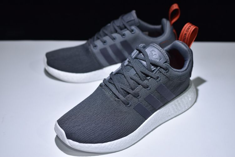 7c0e6c78079c7 2018 Newest adidas NMD R2 Boost Primeknit Navy White-Red BY3014