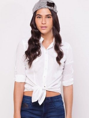 Lee Knotted Crop Blouse