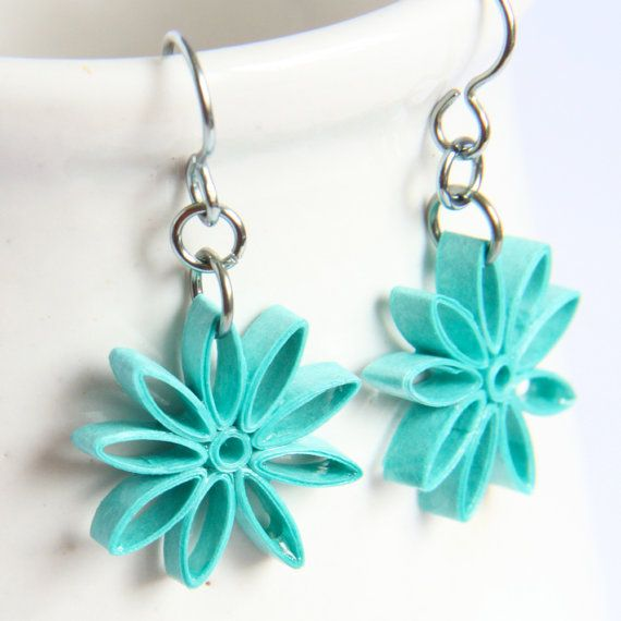 Quilling Papers Earrings: Tutorial For Paper Quilled Jewelry PDF Paisley And
