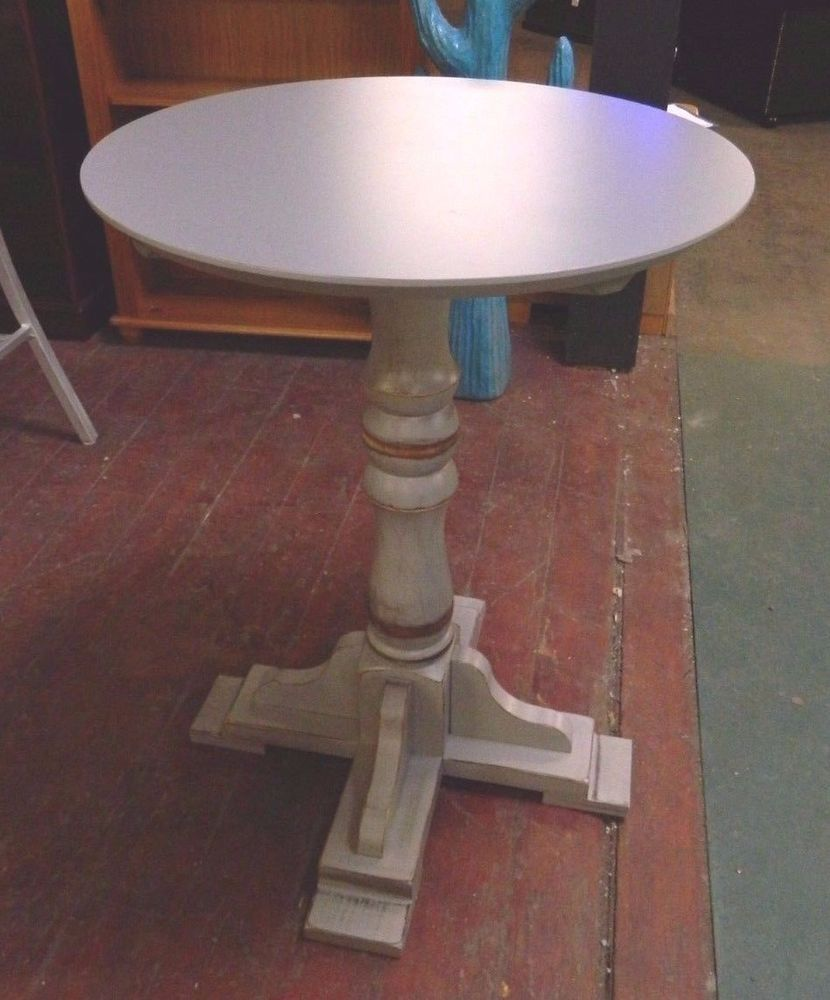 Mid Height Poseur Table Rustic Style Cafe Bistro Bar Pub