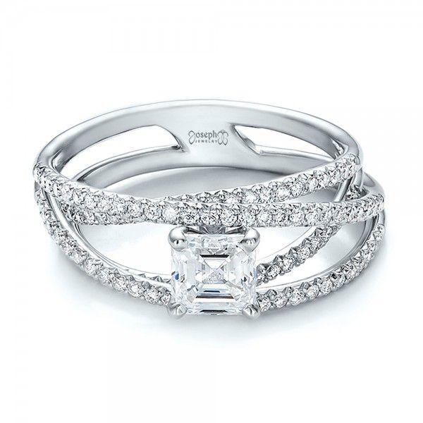 Fabulous Custom Pave Diamond Multi Band Engagement Ring