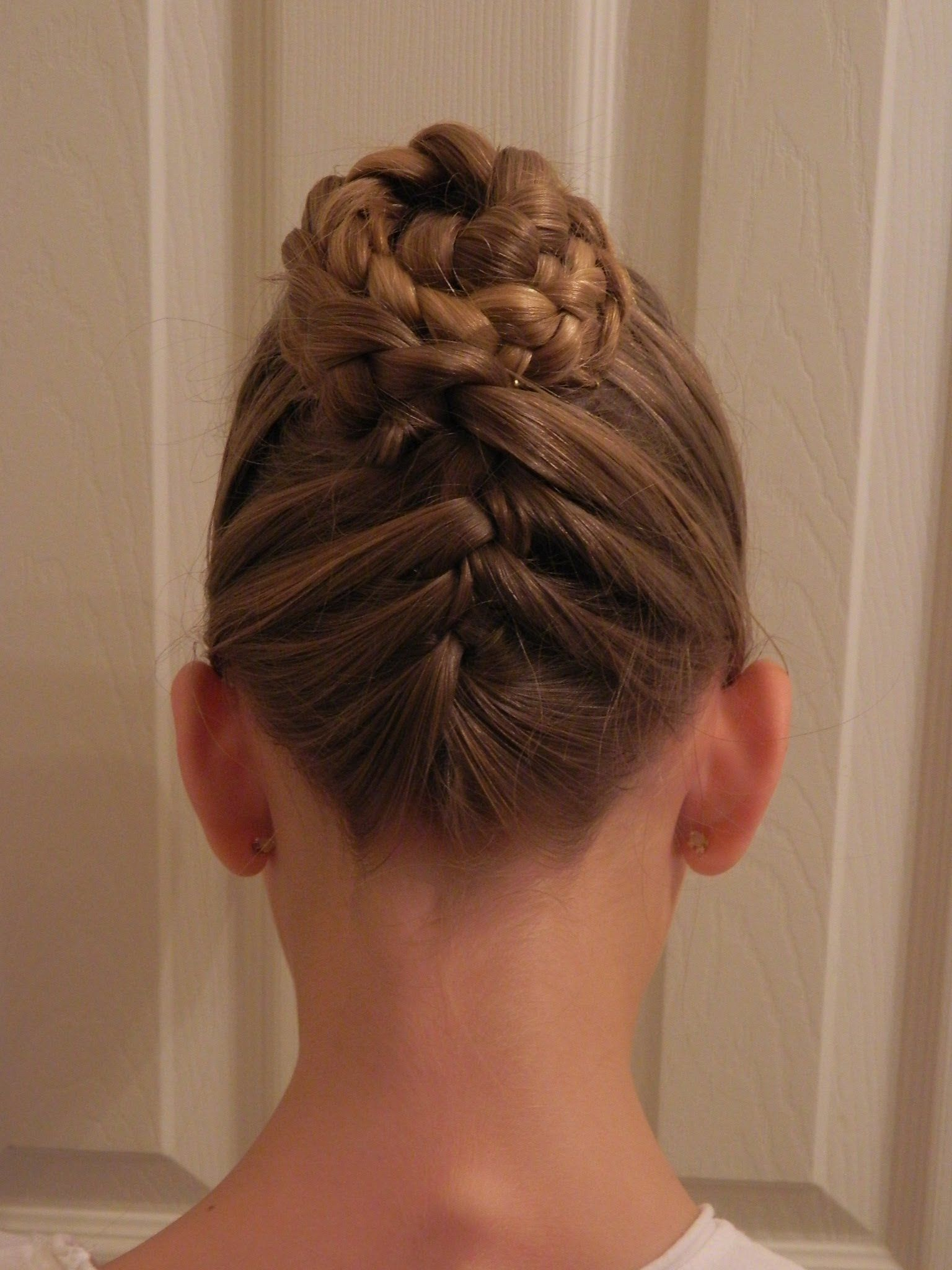 Up u down french braid updo bonita hair do school pinterest