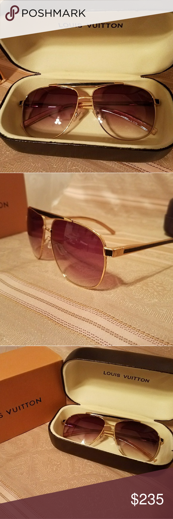 d4725a30c0b LOUIS VUITTON PERSUASION SUNGLASSES Authentic NEW LV Persuasion Sunglasses  Brand New Includes BOX CASE MICROFIBER CLOTH Louis Vuitton Accessories  Sunglasses