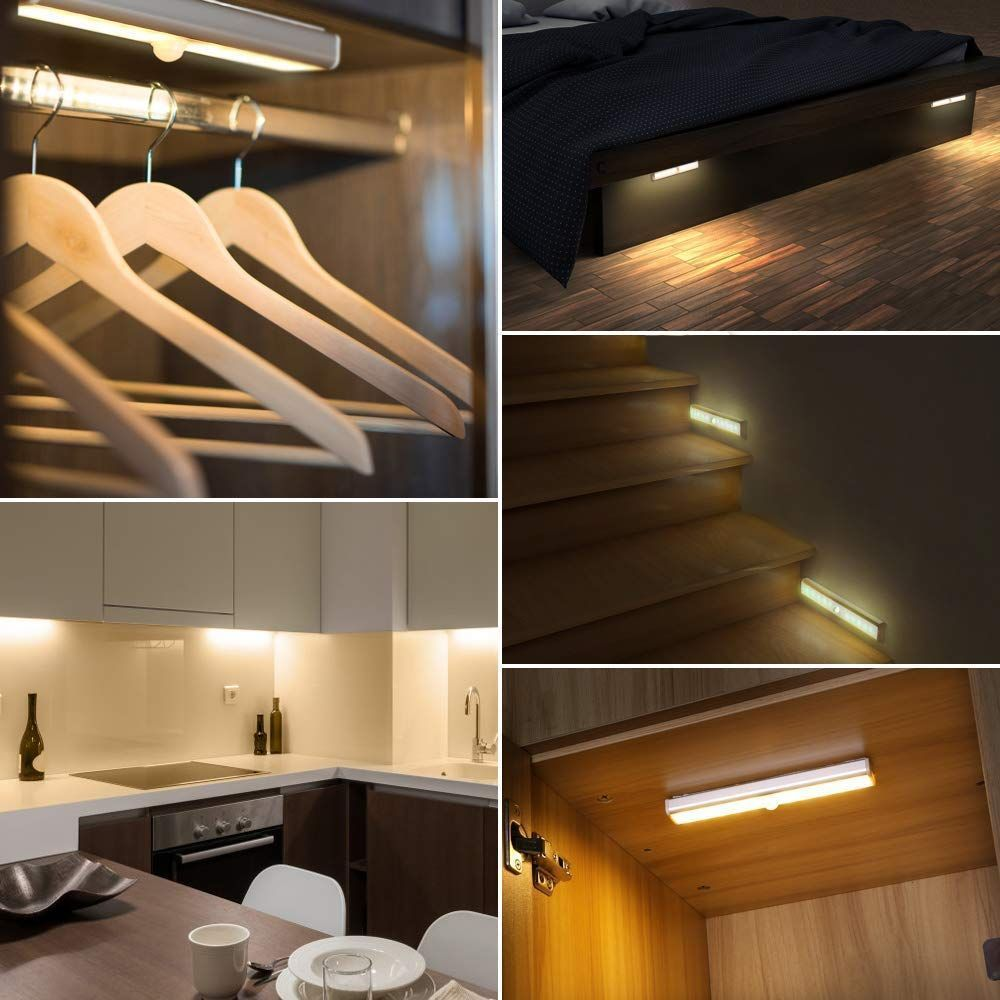 Ousfot Under Cabinet Lighting 10 Led Closet Lights Motion Sensor Indoor Wireles Ousfot Under Cabinet Lighting 10 Led Closet Lights Motion Sensor Indoor Wi In 2020
