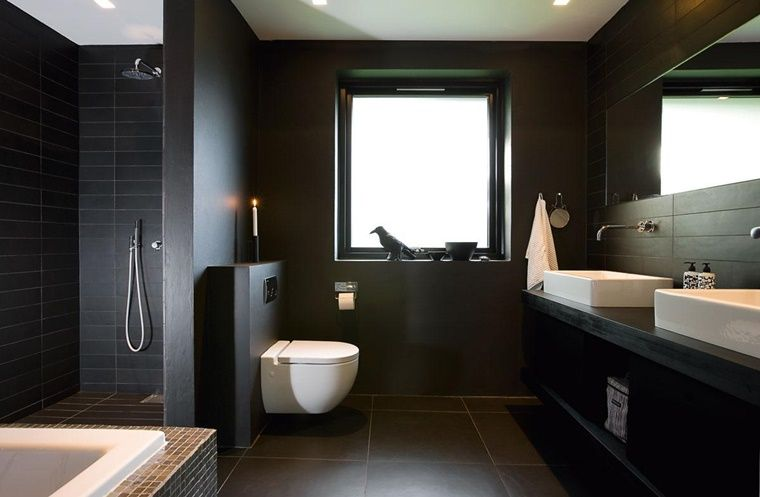 bagno-bianco-e-nero-design-moderno-elegante.jpg (760×497) | For The ...