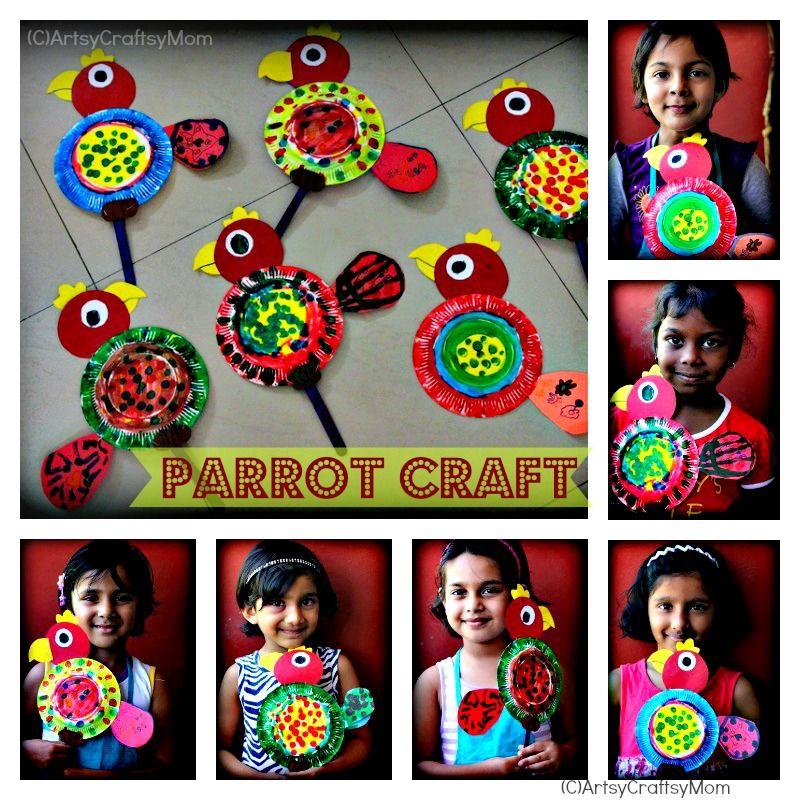 die besten 25 papagei handarbeit ideen auf pinterest vogel basteleien vorschule regenwald. Black Bedroom Furniture Sets. Home Design Ideas