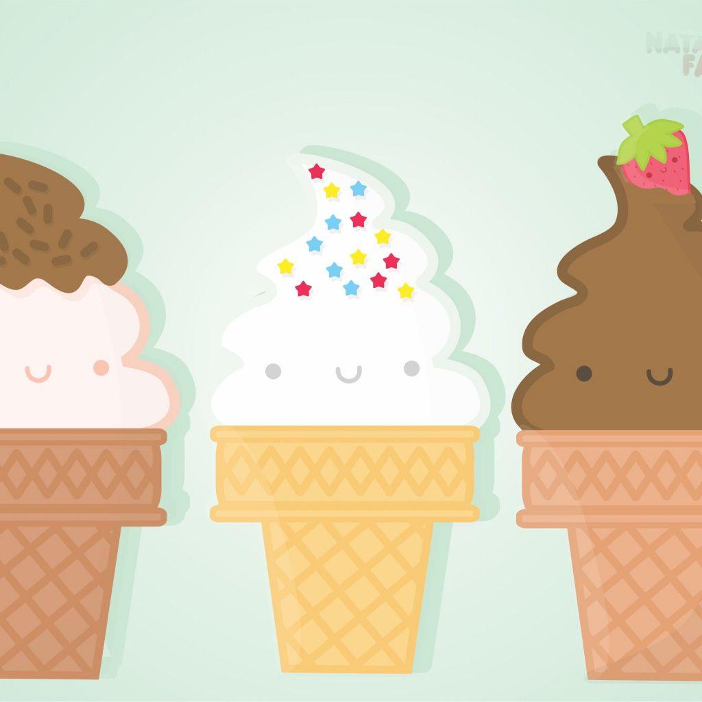 Ice Cream Wide Wallpapers Free: Cute Ice Cream Desktop Background