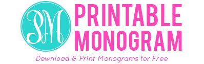 Printable Monogram. This may be my new favorite website! Free ...