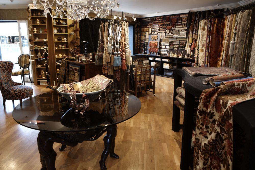 Hand Blocked Wallpapers Bespoke Fabrics Watts Of Westminster Interior Design Mood Board Showroom Design Shop Interior