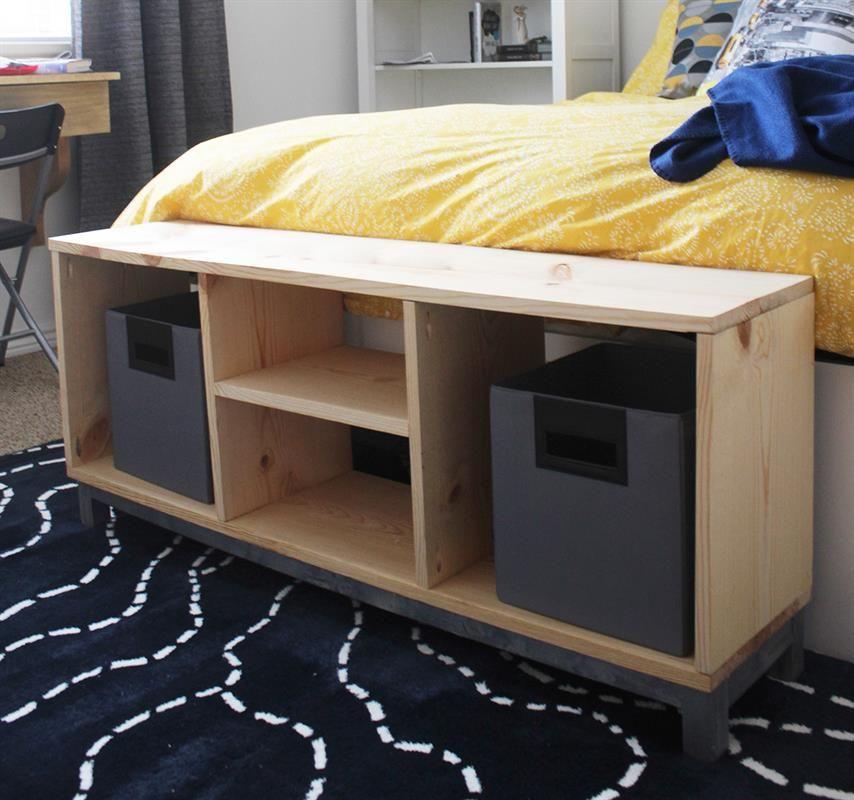 Banco de almacenamiento de bricolaje (IKEA Nornas Imitador ...