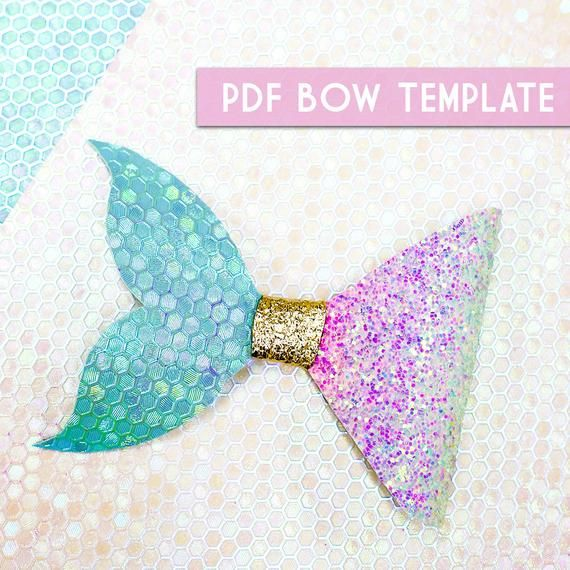 Pdf Png Bow Template 8 Digital File Download Etsy Bow Template Diy Hair Bows Bows