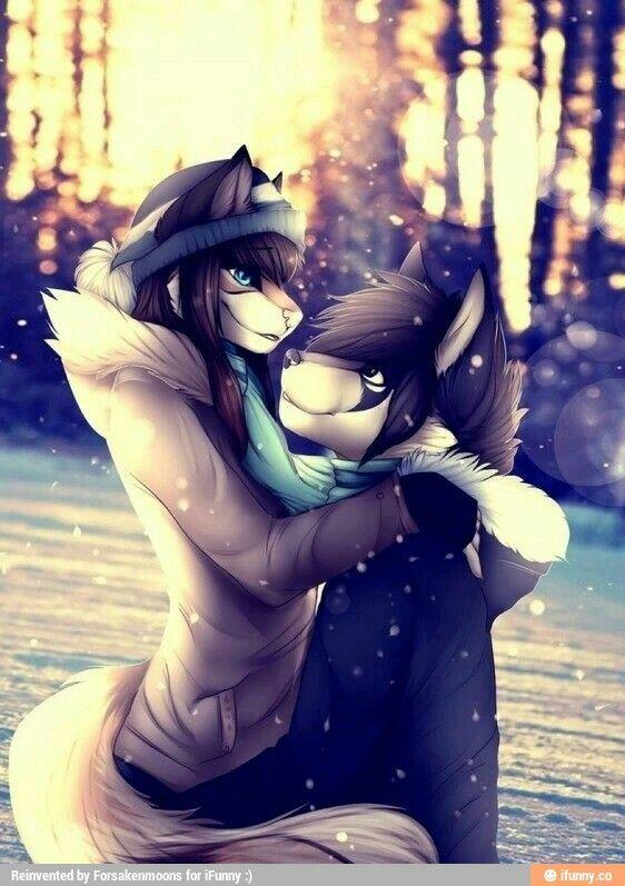 Anime furry couple