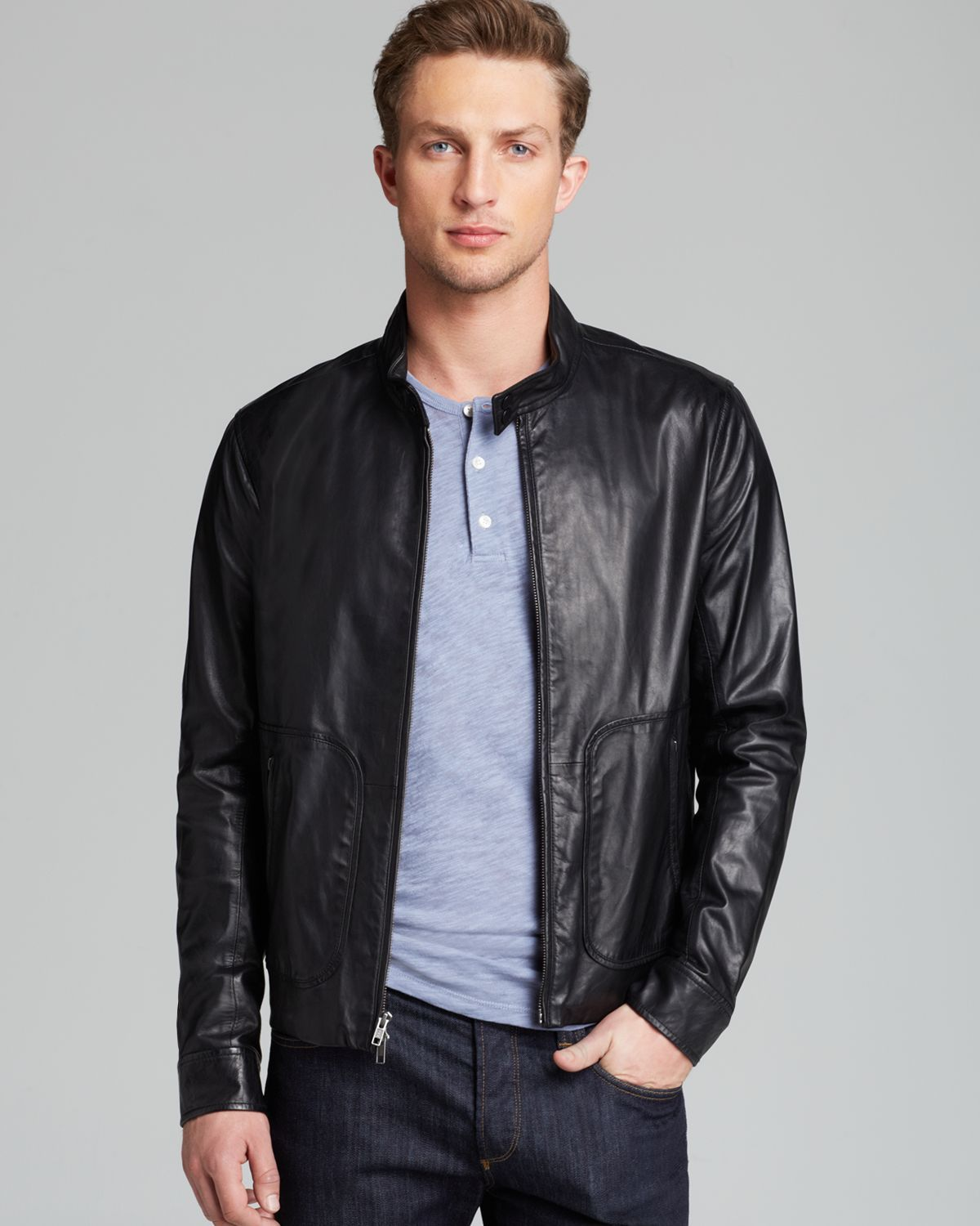 Moto Leather Jacket Mens pRNmTp Leather jacket men