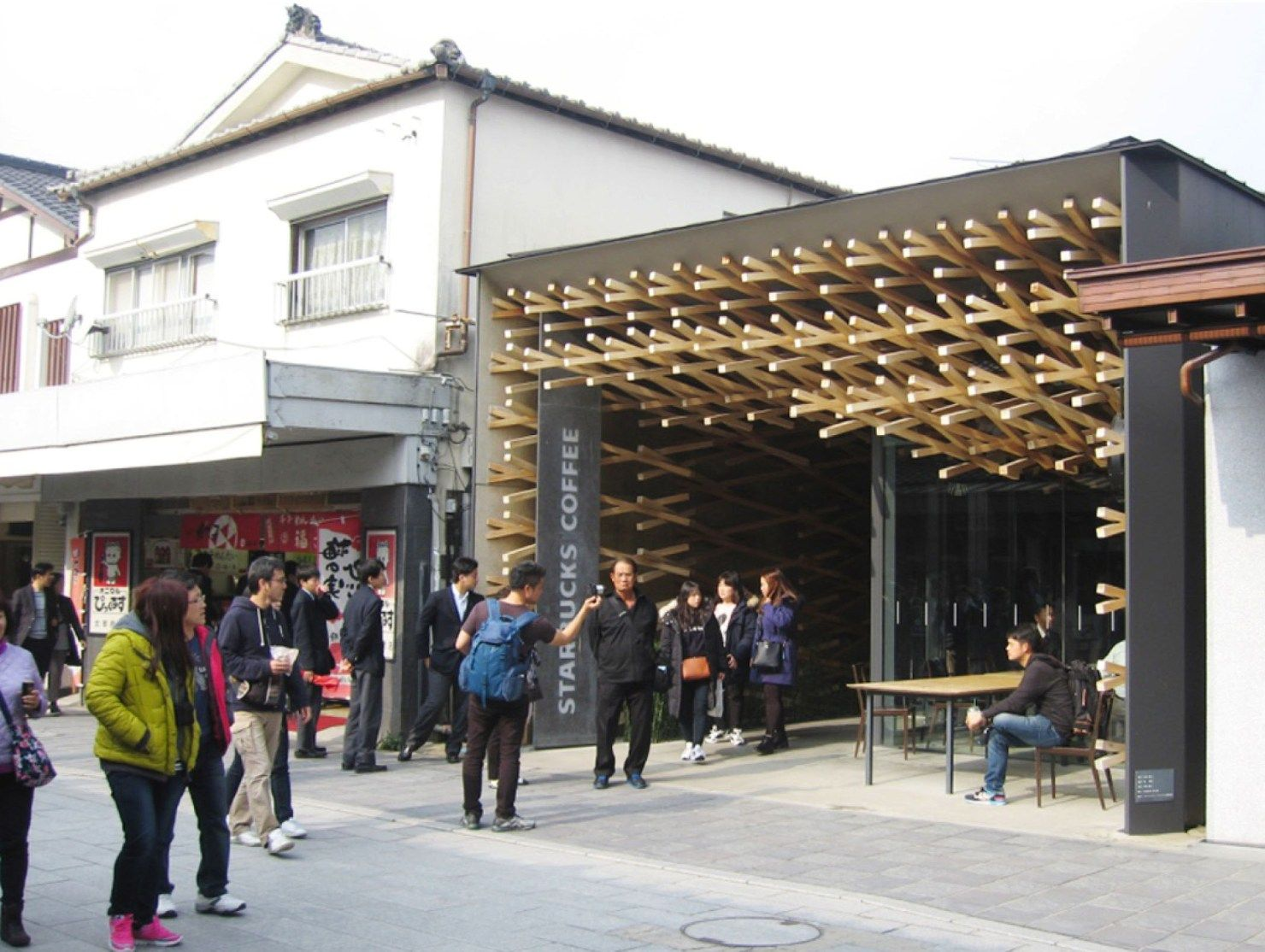 starbucks coffee by architect kengo kuma japan fukukoa dazaifu