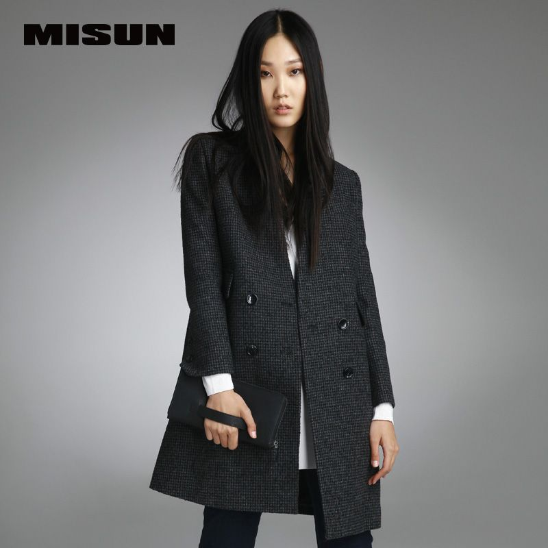 6f6ecd807eb6 Brands Misun 2016 small a overcoat woolen outerwear trench female new  arrival high quality