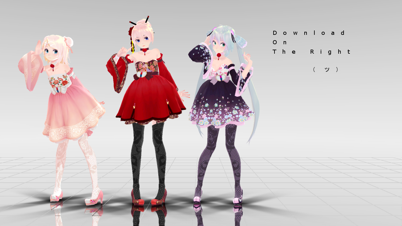 Mmd dress models download by hikariwakamiya on deviantart - Edit I M Probably Never Going To Fix Luka Lmfao Edit The File Only Comes With Miku And Rin Because Luka Seems To Like Crashing Mmd For Some People