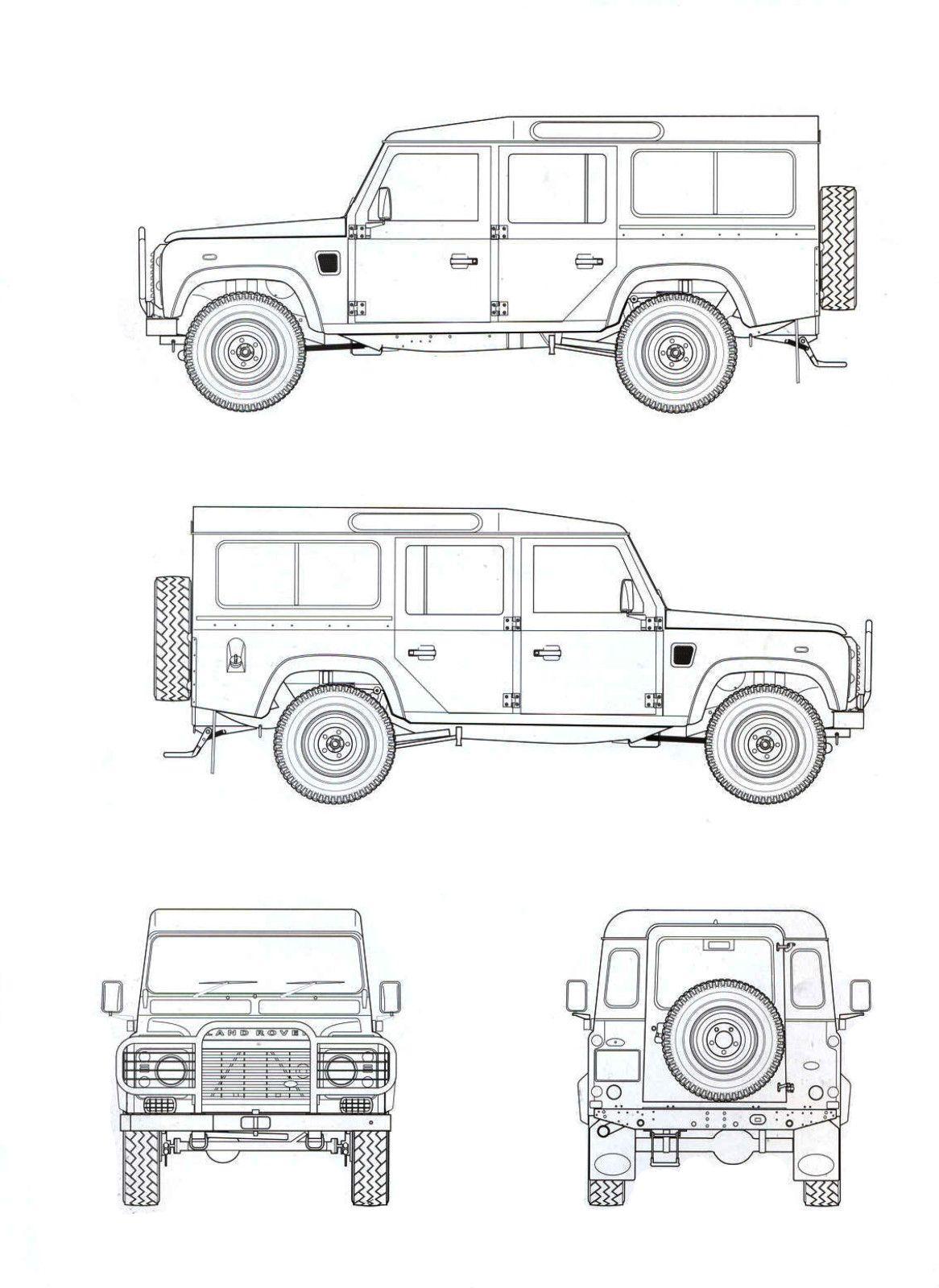 Land Rover Defender blueprint | Landy 110 | Pinterest