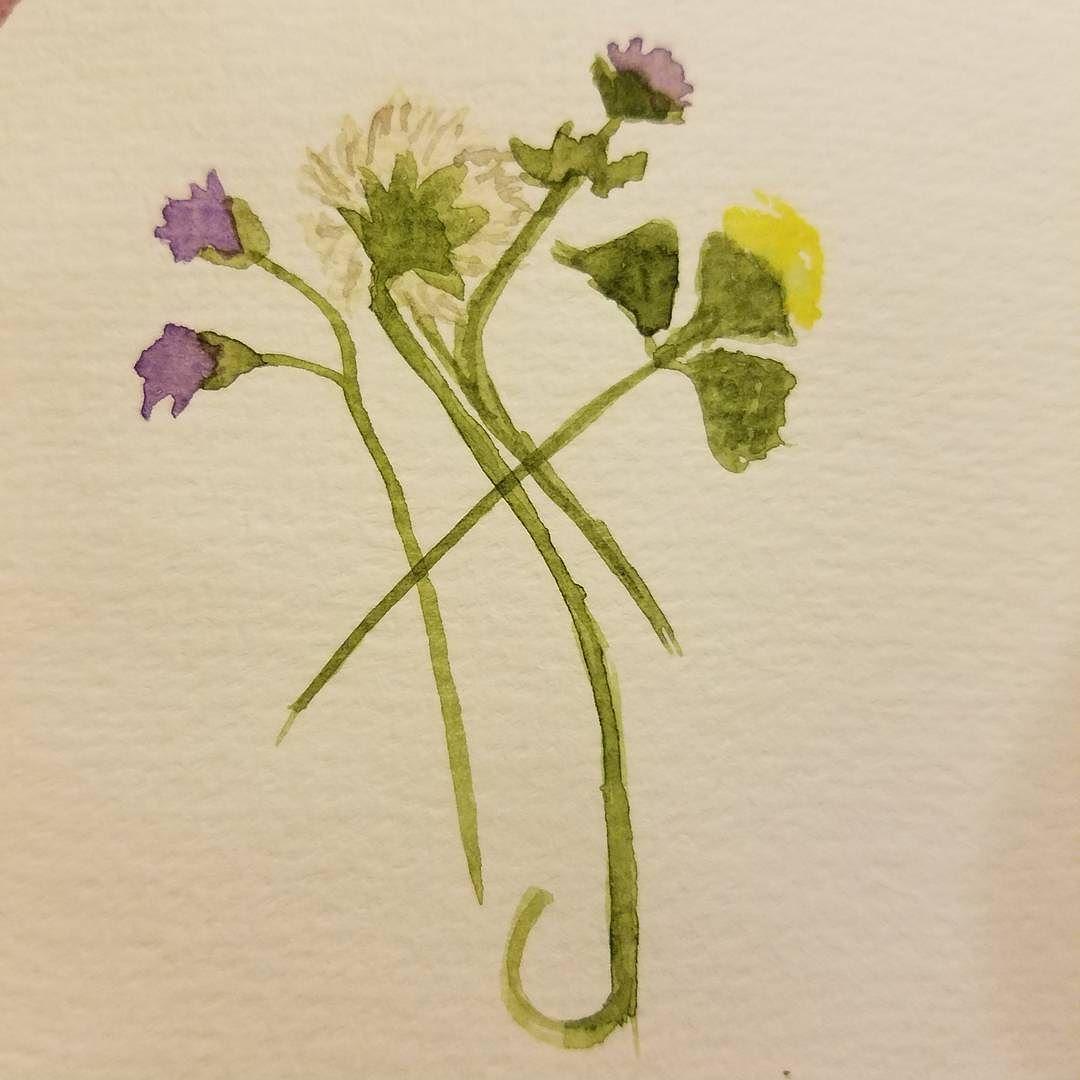 A little flower #sketch for #worldwatercolormonth #worldwatercolourmonth #watercolor