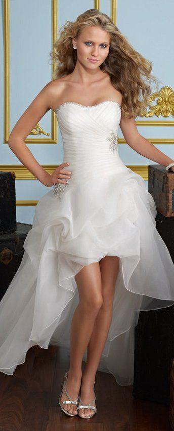 Short In Front Long Back Wedding Dress