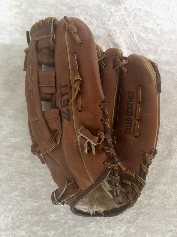 Zett Oiled Leather Baseball Glove Big 5111 Right Hand Throw Players Series Zett Baseball Glove Hand Thrown Leather
