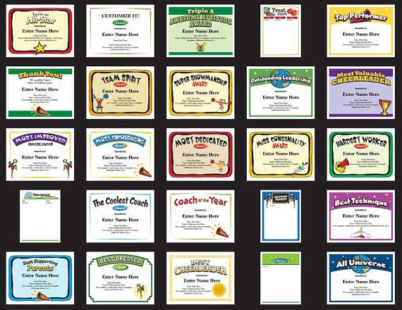 25 cheerleading certificate templates to choose from recognize cheerleading award templates enable you to create custom printable award certificates for players coaches and team parents yelopaper Image collections