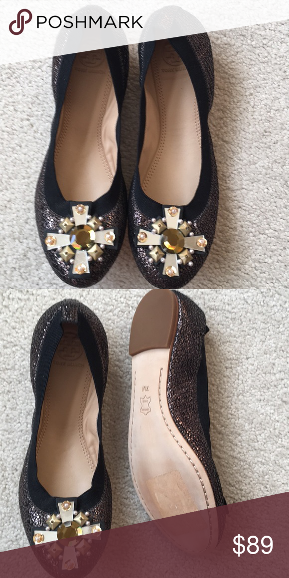 d573f2efaebb Brand new Tory burch flat shoes Beautiful brand new Tory burch flat shoes  with rayon stones great for the holidays Tory Burch Shoes Flats   Loafers