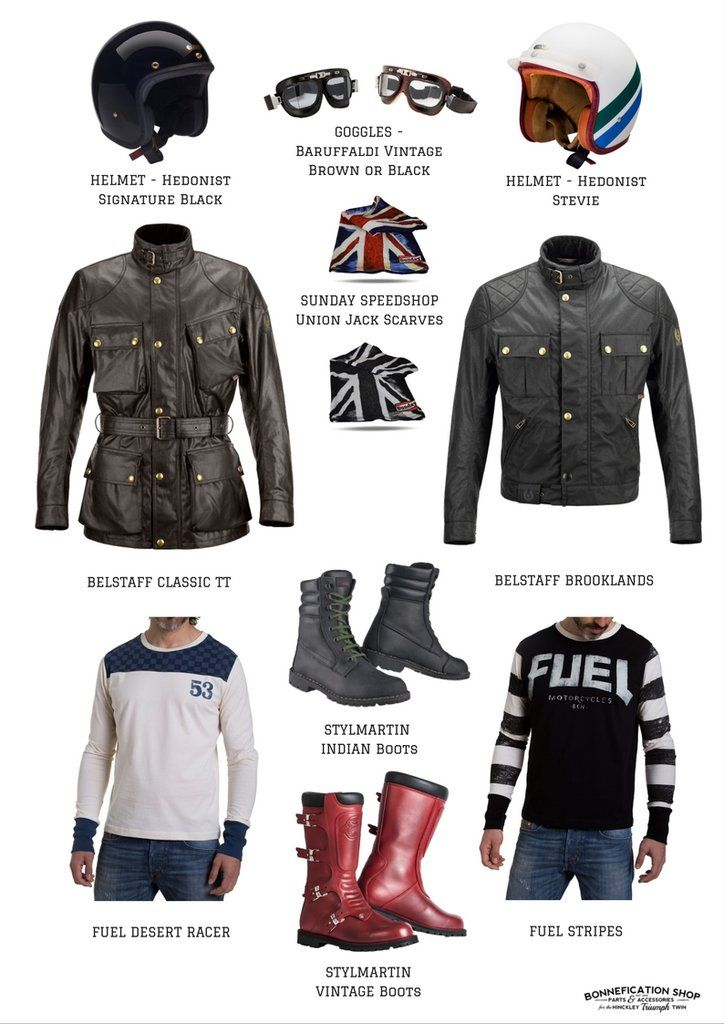Scrambler Style Mens Biker Style Motorbike Clothing Motorcycle Outfit